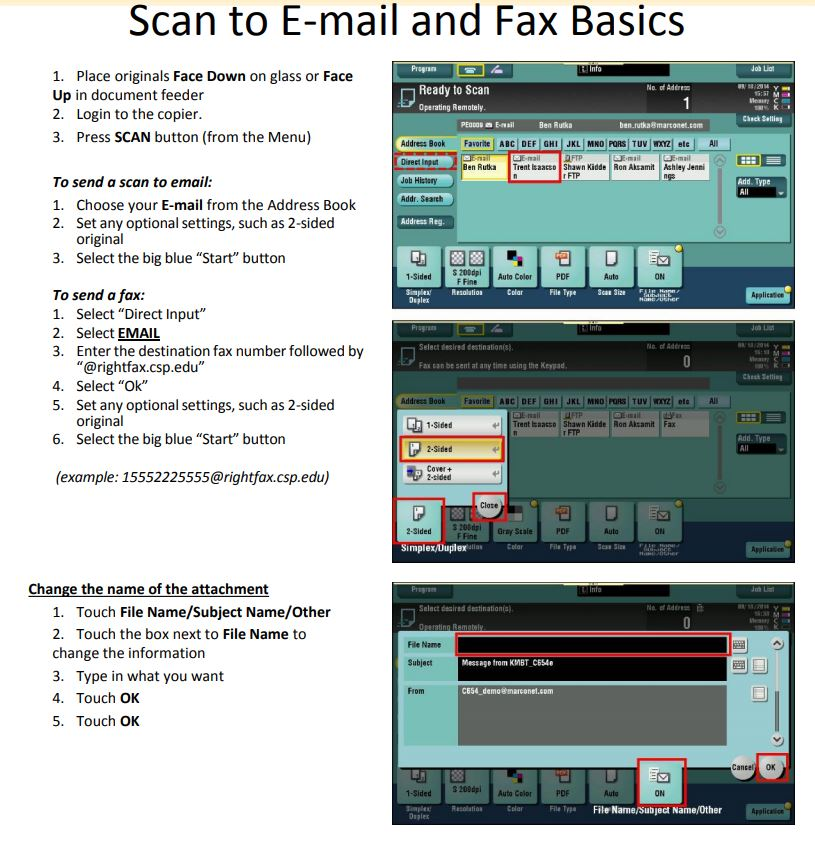 Scan to E-mail and Fax Basics - Document Services