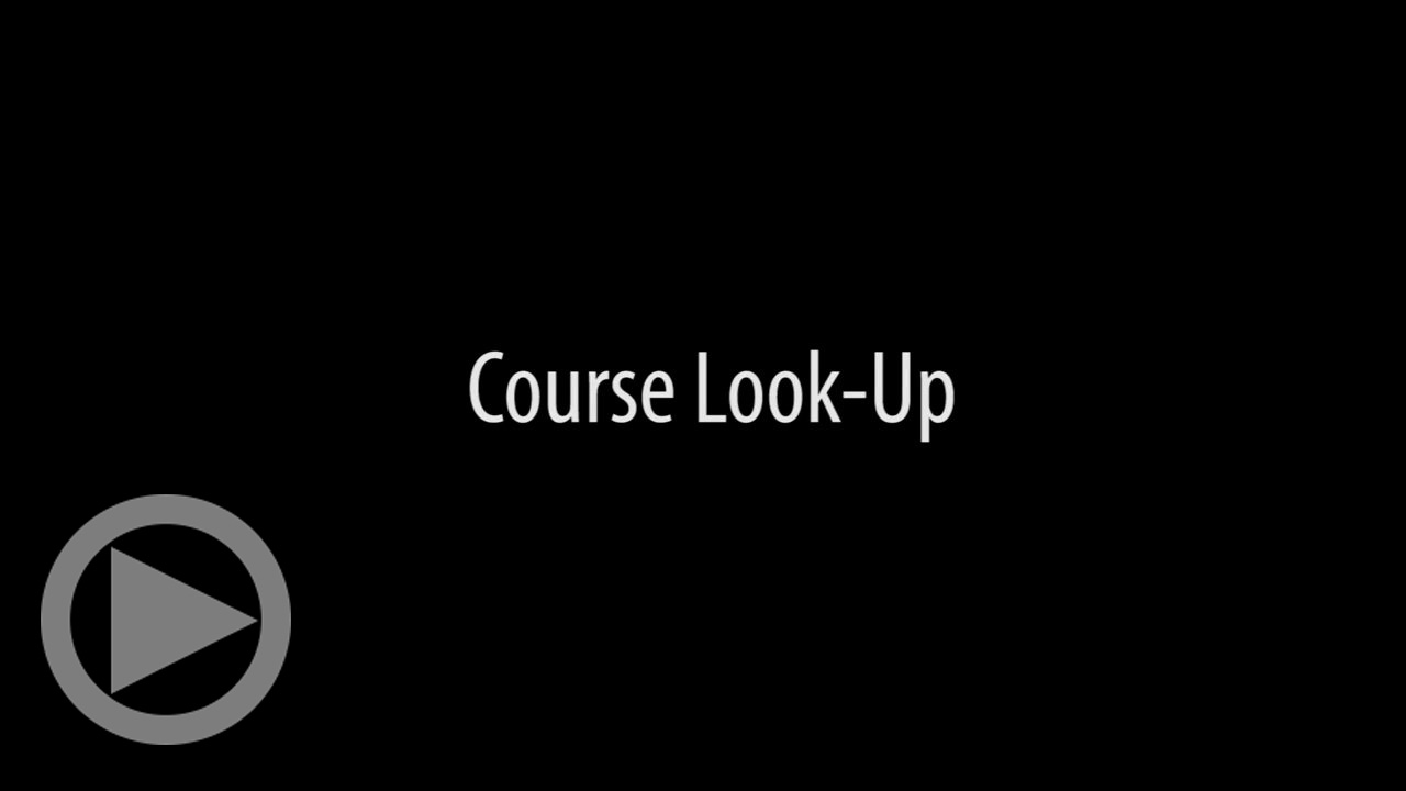 Course-Look-Up